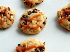 mini chocolate chip turtle cookies