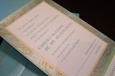 Turqouise Wedding Invitation
