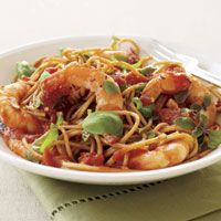 Shrimp Fra Diavolo for dinner tonight, delicious!-Giada's recipe