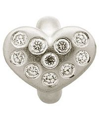 Endless Sterling Silver White Heart of Love with Clear CZ Charm