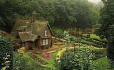 Дом среди леса