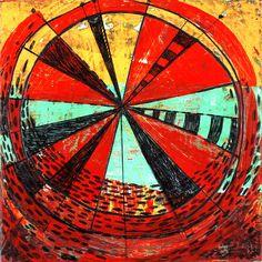 "(c) Barbara Gilhooly 6"" x 6"", acrylic on birch spin-again-2013 by gilhooly studio, via Flickr  http://barbaragilhooly.com/  $150."