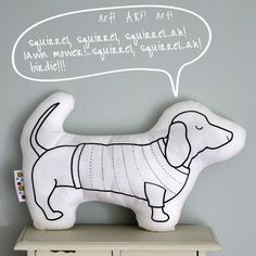 {Stanley Sausage Dog } a colouring-in toy!