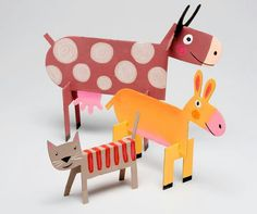 cardboard crafts for kids unique cardboard animals diy handmade toys of cardboard crafts for kids Farm Animal Crafts, Animal Crafts For Kids, Paper Crafts For Kids, Projects For Kids, Diy For Kids, Paper Crafting, Fun Crafts, Diy And Crafts, Craft Projects
