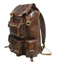 Handmade Large Superior Cow Leather Backpack / Travel Bag