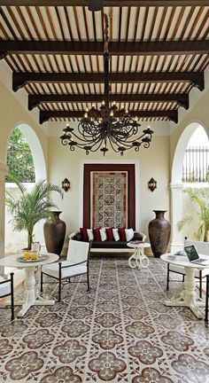 modern spanish homes, spanish home plans The post spanish style homes (spanish home design ideas) Tags: Interior spanish … appeared first on Decor Designs . Style At Home, Outdoor Rooms, Outdoor Living, Outdoor Seating, Style Hacienda, Hacienda Decor, Interior And Exterior, Interior Design, Interior Decorating