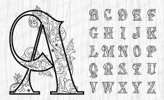 26 Black Ornate Alphabet, Gold Letters,Gold Numbers, Gold Sy… – Graffiti World Alphabet A, Caligraphy Alphabet, Tattoo Fonts Alphabet, Tattoo Lettering Fonts, Hand Lettering Alphabet, Lettering Styles, Graffiti Lettering, Lettering Design, Chicano Lettering