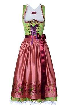 German Couture Dirndl by famous German designer Lola Paltinger. If you're hip, you wear her dirndls.