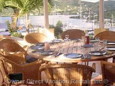 View of the Antigua Yacht Club Marina in Falmouth Harbour, Antigua from this 6 bedroom villa