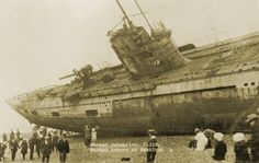 A WW1 submarine with a hull number of U-118 was found washed ashore on the beach at Hastings, Sussex, England. After the surrender of Germany, its towing cable snapped as it was being towed to France for dismantling.