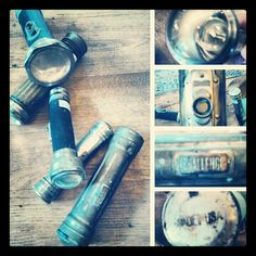 Vintage flashlight collection  Scarlett Scales Antiques - Franklin, Tennessee Hip Antique Boutique