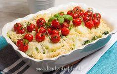 Pasta-ovenschotel met vis en Boursin