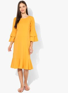 3269cbd21c0 Buy MomToBe Yellow Coloured Solid Maternity Shift Dress Online - 7267514 -  Jabong