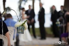 ceremony aisle lanterns with roses