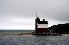 lighthouse off Mackinac Island
