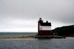 lighthouse off Mackinac Island