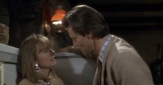 Baby Boom, when Sam Shepard kisses Diane Keaton into the fridge. One of the top movie kisses.