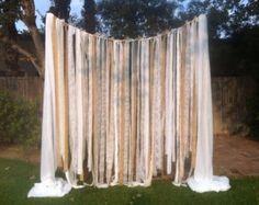 Burlap Chiffon & Lace Fabric Strip Garland by LacyJCreations