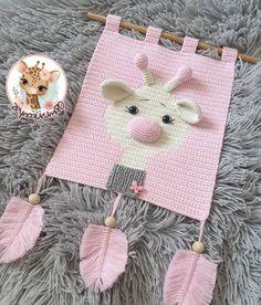 Crochet Wall Art, Crochet Wall Hangings, Tapestry Crochet, Cute Crochet, Crochet Crafts, Crochet Toys, Knit Crochet, Crochet Blanket Patterns, Baby Blanket Crochet