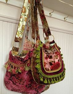 Pretty Gypsy Bag In Pinks And Greens by Justbepurses on Etsy
