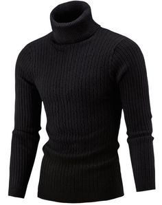 Sweater Men 2017 Brand Pullovers Casual Sweater Male High Collar Solid Simple Slim Fit Knitting Mens Sweaters Man Pullover Men S