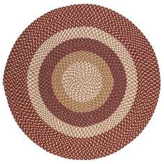 Fabric Multi Red Area Rug