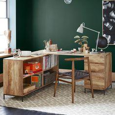 Rustic Modular Desk Set – Box File + Bookcase