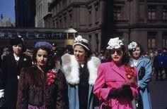 New York New York  -1944 - Manhattan girls and Columbus Day parade