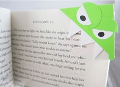 Origami Monster Bookmarks? Check! http://www.kiddology.com/the-smartphone-diet-a-trip-to-the-library/