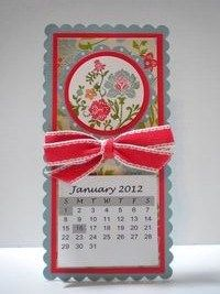 Peanuts and Peppers Papercrafting: Make It Monday - Stampin' Up Fresh Vintage Magnetic Calendar