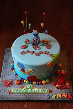 Sesame Street cake by Andrea's SweetCakes