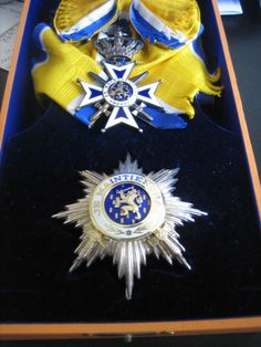 Netherlands, Order of Orange-Nassau, Military Grand Cross set with swords complete with sash and case.