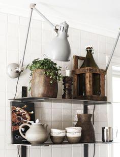 IKEA Aröd skrivbordslampa med rörgavel - DIY vägglampa via @my casa