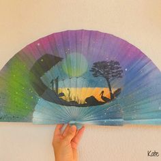 A hand fan have recently been working on for a customer. Hand fans by Kate Dengra
