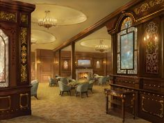 Titanic's interior and fittings: Dining rooms, decks, rooms and  accomodation for passengers of Titanic. Lavish, Opulence, Edwardian