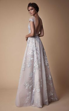 Super Wedding Dresses Fit And Flare Sleeves Ball Gowns Ideas Evening Gowns With Sleeves, White Evening Gowns, Evening Dresses, Prom Dresses, Bridal Gowns, Wedding Gowns, Beautiful Dresses, Nice Dresses, Backless Gown