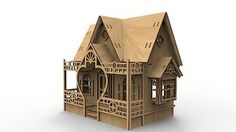 Beautiful-Dollhouse-plans-DXF-EPS-laser-cutter-CNC-router-scale-1-24-1-12-1-6