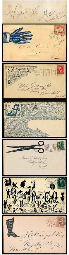 Notes On A Visual Life, writing letters, postage stamp, address, calligraphy, type, illusration