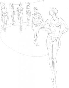Учимся рисовать fashion-эскиз. Урок 16. Модели на подиуме