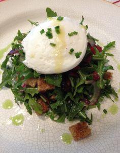 Poached Egg Arugula Salad