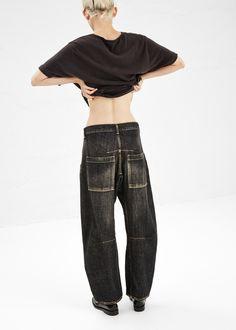 Y's by Yohji Yamamoto Slouchy Jeans (Black)