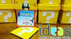 Invitaciones y sorpresas de Mario bros