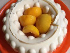 Receta de Gelatina deliciosa de queso crema con fruta