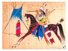 artist: George Flett  Elk Medicine Ledge Native American Regalia, Native American Artifacts, Native American History, Indian Arts And Crafts, Indian Quilt, Native American Paintings, Hawaiian Art, Southwest Art, American Indian Art