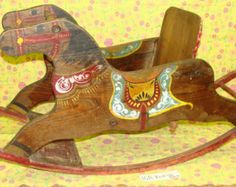 Antique Handpainted Rocking Horse - Very old and unusual