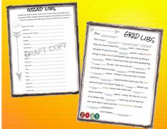 Graduation Mad Libs-Instant Download by 31Flavorsofdesign on Etsy