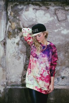 Purple Pink Grunge Sweater von Like Life Clothing auf DaWanda.com