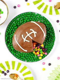 American Football Surprise Cake Recipe & DIY Instructions - BirdsParty.com