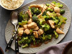 Chicken and Broccoli Stir-fry - tasty! Used 1/4 tsp of red chili flakes. Good when mixed with white rice.