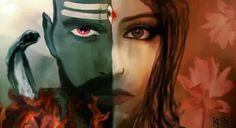 Androgynous form of Shiva and Parvati Ardhanariswarar(from my eyes) Mahakal Shiva, Shiva Art, Lord Shiva Family, Lord Murugan, Lord Mahadev, Les Religions, Divine Mother, Hindu Deities, Lord Ganesha